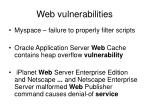web vulnerabilities