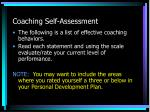 coaching self assessment