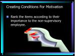 creating conditions for motivation1