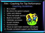 film coaching for top performance coaching guidelines