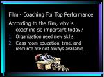 film coaching for top performance5