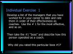 individual exercise 1