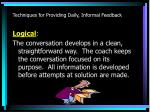 techniques for providing daily informal feedback2