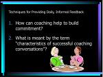 techniques for providing daily informal feedback4