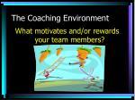 the coaching environment