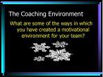 the coaching environment1