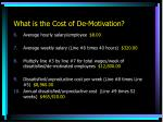 what is the cost of de motivation1