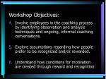 workshop objectives1