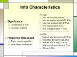 info characteristics