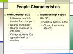 people characteristics