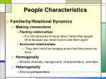 people characteristics1
