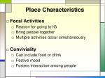 place characteristics