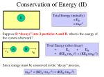 conservation of energy ii