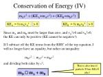 conservation of energy iv