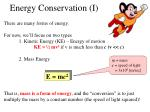 energy conservation i