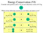 energy conservation vi