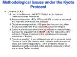 methodological issues under the kyoto protocol