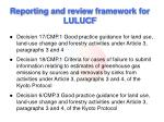 reporting and review framework for lulucf
