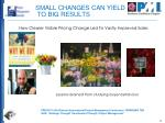 small changes can yield to big results