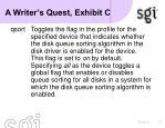 a writer s quest exhibit c