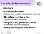 improving the documentation8