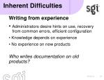 inherent difficulties6