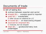 documents of trade
