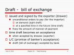 draft bill of exchange