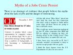 myths of a jobs crisis persist