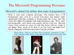 the microsoft programming personae