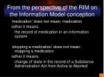 from the perspective of the rim on the information model conception