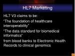 hl7 marketing