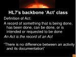 hl7 s backbone act class