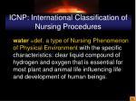 icnp international classification of nursing procedures