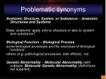 problematic synonyms