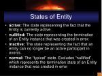 states of entity