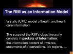 the rim as an information model