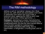 the rim methodology