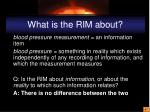 what is the rim about