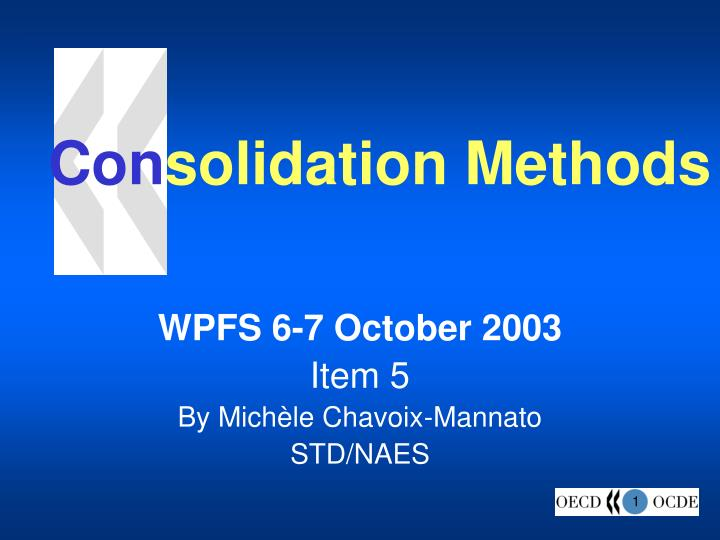 con solidation methods n.