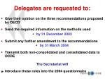 delegates are requested to