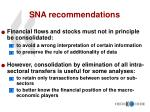 sna recommendations