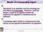 model of a computing agent