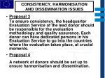consistency harmonisation and dissemination issues