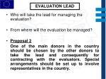 evaluation lead