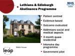 lothians edinburgh abstinence programme