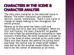 characters in the scene character analysis
