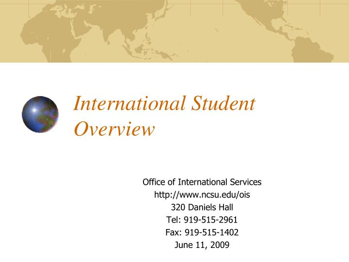 international student overview n.