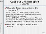 cast out unclean spirit cont d1