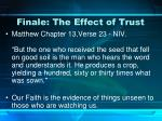 finale the effect of trust